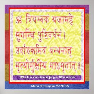 Esmero al MANTRA de Maha Mritunjaya Impresiones