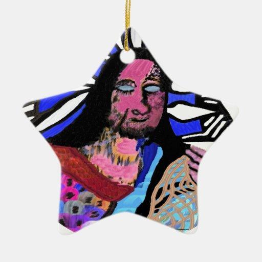 Esmero: Arte del estilo de la cueva del vintage Ornamentos De Navidad
