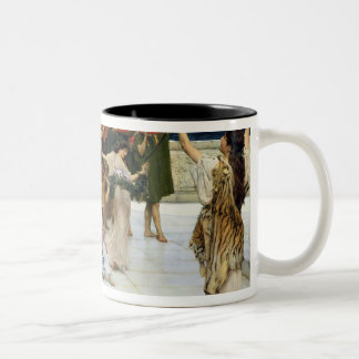 Esmero de Alma-Tadema  A al Bacchus Taza De Café De Dos Colores