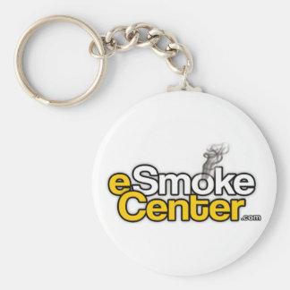 eSmoke Center dot com Basic Round Button Keychain