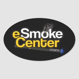eSmoke Center dot com Oval Sticker