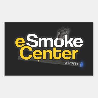 eSmoke Center dot com Rectangular Sticker