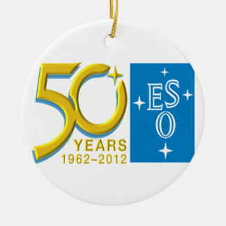 ESO at 50! Double-Sided Ceramic Round Christmas Ornament