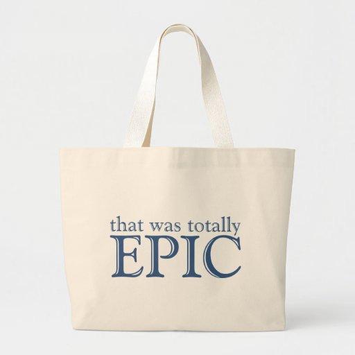 Eso era totalmente épico bolsas