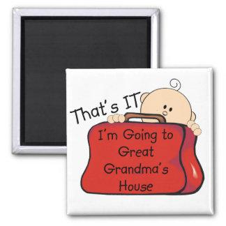 Eso es él gran abuela imán cuadrado