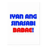 Eso es lo que ella dijo (el tagalogo) tarjetas postales
