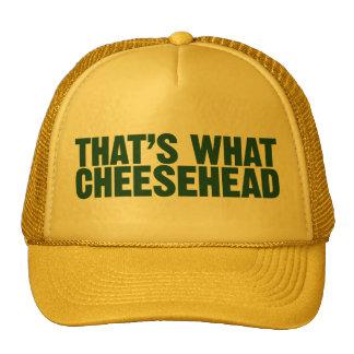 Eso es lo que gorra de Cheesehead