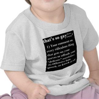 Eso es tan gay camisetas