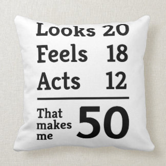 Eso me hace 50 almohada