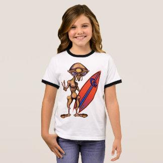 Eson from Align Star Surfers Anime Ringer T-Shirt