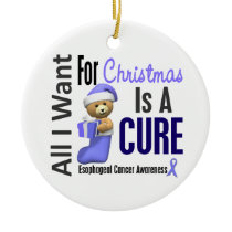 Esophageal Cancer All I Want Christmas Ornaments