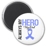 Esophageal Cancer Always My Hero My Dad 2 Inch Round Magnet