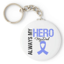 Esophageal Cancer Always My Hero My Dad Keychain