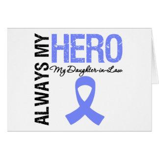 Esophageal Cancer Always My Hero My DaughterInLaw Greeting Cards