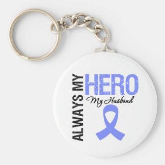 Esophageal Cancer Always My Hero My Husband Keychain