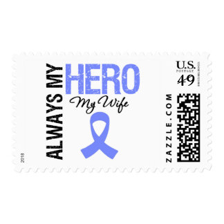 Esophageal Cancer Always My Hero My Wife Postage Stamp