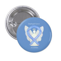 Esophageal Cancer Angel Awareness Ribbon Art Pin