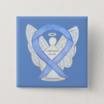 Esophageal Cancer Angel Awareness Ribbon Art Pin