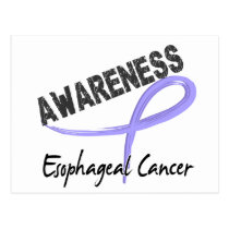 Esophageal Cancer Awareness 3 Postcard