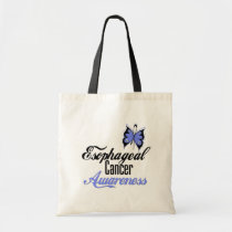 Esophageal Cancer Awareness Butterfly Budget Tote Bag