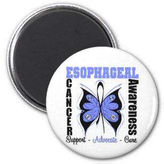 Esophageal Cancer Awareness Butterfly 2 Inch Round Magnet