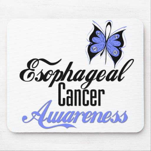 Esophageal Cancer Awareness Butterfly Mouse Pad