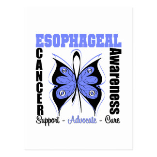 Esophageal Cancer Awareness Butterfly Postcard