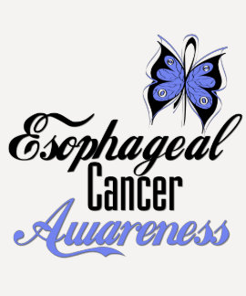 Esophageal Cancer Awareness Butterfly T-Shirt