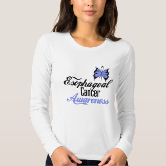 Esophageal Cancer Awareness Butterfly T Shirt