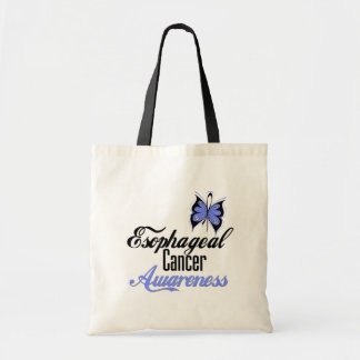 Esophageal Cancer Awareness Butterfly Tote Bag