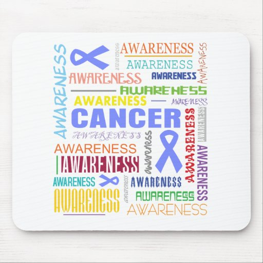 Esophageal Cancer Awareness Collage Mouse Pad