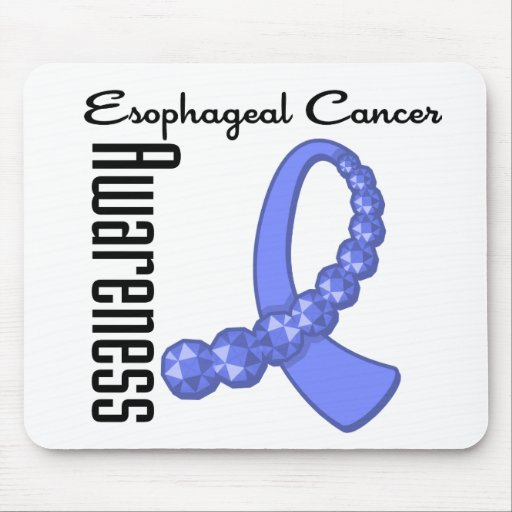 Esophageal Cancer Awareness Gemstone Ribbon Mouse Pads