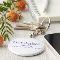 Esophageal Cancer Awareness 'Got Agita' Key Chain