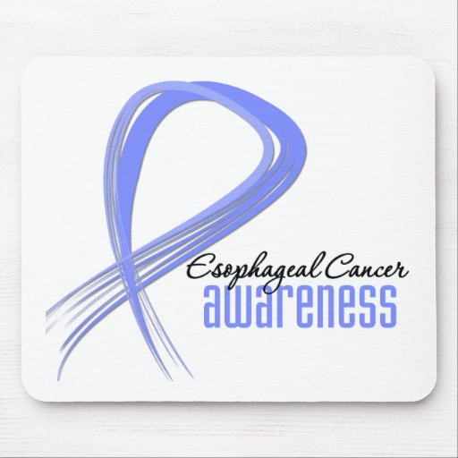 Esophageal Cancer Awareness Grunge Ribbon Mouse Mat