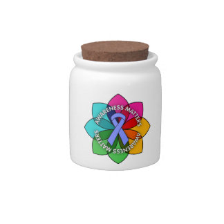 Esophageal Cancer Awareness Matters Petals Candy Dish