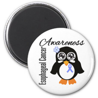 Esophageal Cancer Awareness Penguin 2 Inch Round Magnet