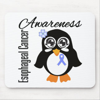 Esophageal Cancer Awareness Penguin Mouse Pad