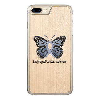 Esophageal Cancer Awareness Ribbon Carved iPhone 7 Plus Case