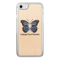 Esophageal Cancer Awareness Ribbon Carved iPhone 8/7 Case