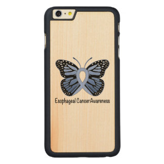 Esophageal Cancer Awareness Ribbon Carved Maple iPhone 6 Plus Case