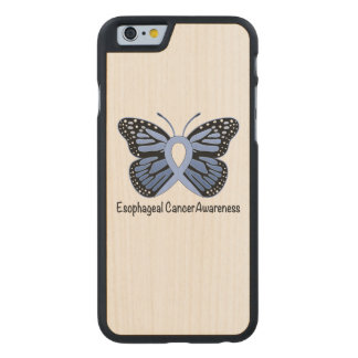 Esophageal Cancer Awareness Ribbon Carved® Maple iPhone 6 Slim Case