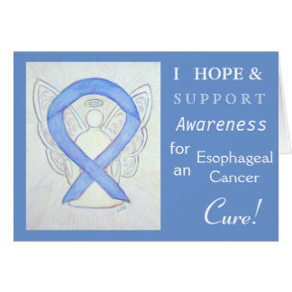 Esophageal Cancer Awareness Ribbon Greeting Card