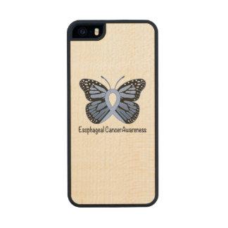 Esophageal Cancer Awareness Ribbon Wood iPhone SE/5/5s Case