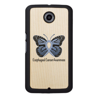 Esophageal Cancer Awareness Ribbon Wood Phone Case