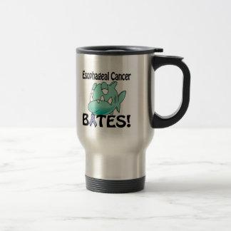 Esophageal Cancer BITES 15 Oz Stainless Steel Travel Mug