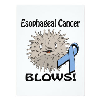 Esophageal Cancer Blows Awareness Design Custom Announcements