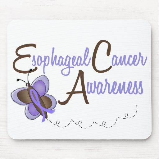 Esophageal Cancer Butterfly 2 Awareness Mouse Pads