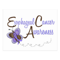 Esophageal Cancer Butterfly 2 Awareness Postcard