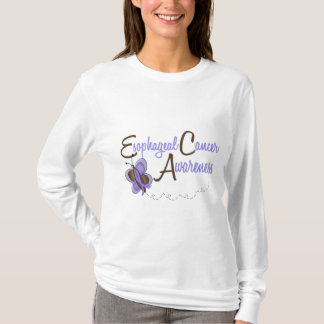 Esophageal Cancer Butterfly 2 Awareness T-Shirt