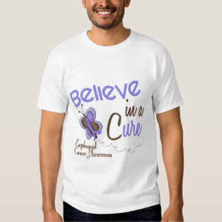 Esophageal Cancer Butterfly 2 Believe In A Cure Shirt